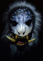 Boar Demon mask  Snow Beast edition by mostlymade