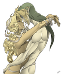 Link x Female Sheik by WhiteFoxCub