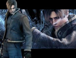 Resident evil 4 - wallpaper Leon by MCAshe