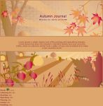 4 Seasons Autumn Journal by Vivirmivida