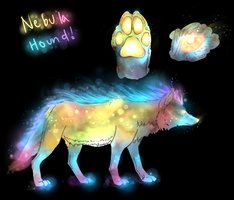 Nebula Hound Adoptable 2 (Auction) CLOSED by TheFireGypsy