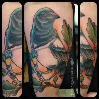 Magpie tattoo by WillemXSM