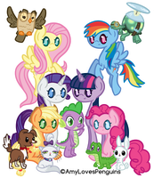 The Mane Six And Friends by AmyLovesPenguins