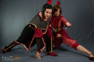 Azula and Ty Lee by MimiStars