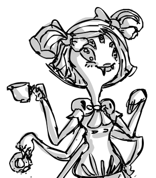 [Flash w/ mouse] Quick Muffet Drawing by MaxiGamer