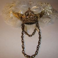 Flying Crown Steampunk Garter by SteamSociety