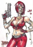 SKETCH CARD Painkiller Jane 3 by jasinmartin