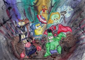 SpongeBob Vs. Avengers by Spongefifi