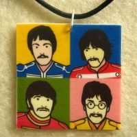 Beatles Opie-style necklace by Mimi-Mushroom