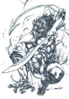 Nightcrawler (pencils) by emmshin