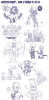 Sketch Dump - Live Steam March 11 2013 by Lorddragonmaster