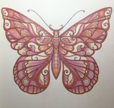 3 Pencil Butterfly by SpiritKnightShiro