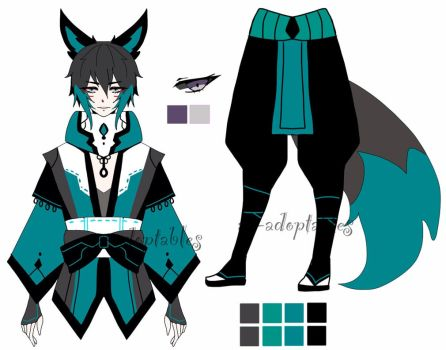 kitsune Samurai adoptable  closed by AS-Adoptables