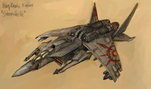 Warphawks - Stormshrike Fighter by TD-Vice