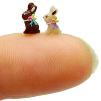 1/4 Scale EASTER CHOCOLATE BUNNY RABBIT DUO by WEE-OOAK-MINIATURES