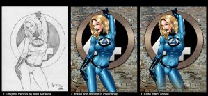 Sue Storm Before - After by richmbailey