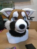 Red Panda Head by Dingz
