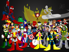 Superhero series1 wall by yarrbunny
