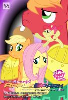 AppleSpark6 Poster: Apple Siblings and Fluttershy by AaronMon97