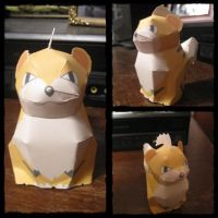 Growlithe Papercraft by giraffesonparades