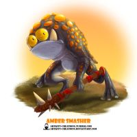 Tribal Frogs 03 - Amber Smasher by ArtKitt-Creations