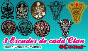 9 PNG. Escudo cullen-volturi-quileute by CaamiKS