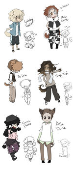 OC Dog people by Nire-chan