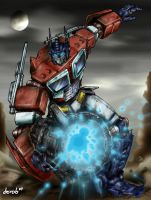 Optimus Prime Blast by derob2511