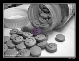 The Happy Purple Pill by onjolt
