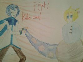 kaito wins with his awesome icecream powers!! by the-anime-snowflake