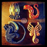 Xenomorph Life-Cycle Magnets by JasonMcKittrick