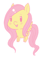 MS Paint : Fluttershy by NomNomPikachu