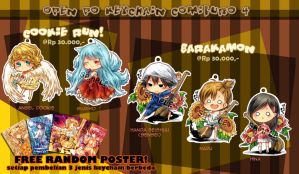 [INDONESIAN ONLY] Pre Order Keychain Comifuro 4 by sonnyaws