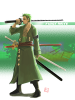 Zoro - 2 Y after by bustercloud