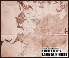Tainted Purity - Map of Kinaar by HailDawn