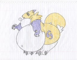 Heavy Fat Renamon. by Virus-20