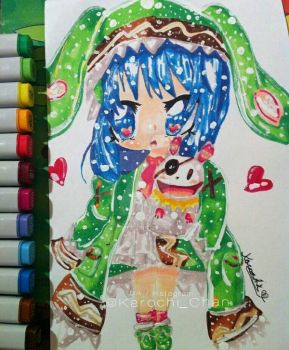 (Chibi) Yoshino from Date A Live  by KarochiChan