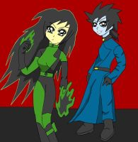 KP: Shego and Dr. Drakken by lady-warrior