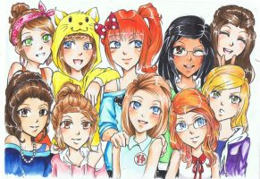 Me, Ellie and friends by bluemist72
