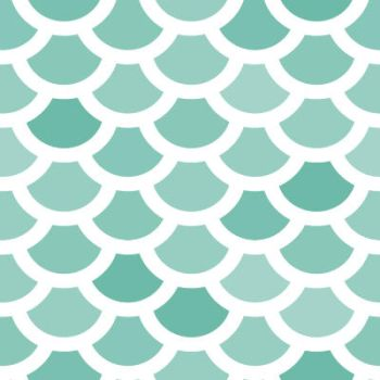 Teal Fish Scale Pattern by JonesPatterns