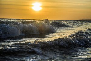 Sunset waves by Vitaly-Sokol