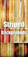 Color Striped Backgrounds by dimsons