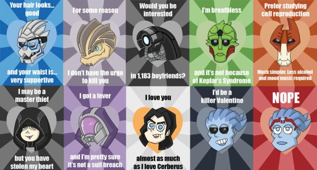 Mass Effect Valentine Sampling by silveramysaurus07