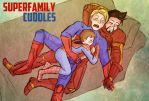 SuperFamily Cuddle Time by Arkham-Insanity