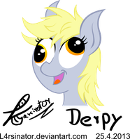Happy Derpy by l4rsinator