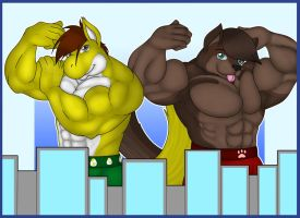 Showing some macro muscles by Zephir-Zophar