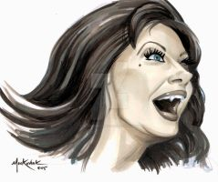 Ingrid Pitt 2015marker by NickMockoviak