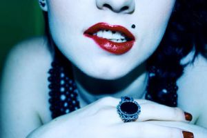 Red lips by KoffinKorps