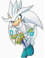 Silver the hedgehog ( Colored ) by Zubwayori