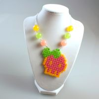 Perler Necklace - Kandi Raver by MelodyMaid